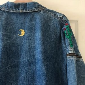 Vintage Guess oversized denim jacket with patches